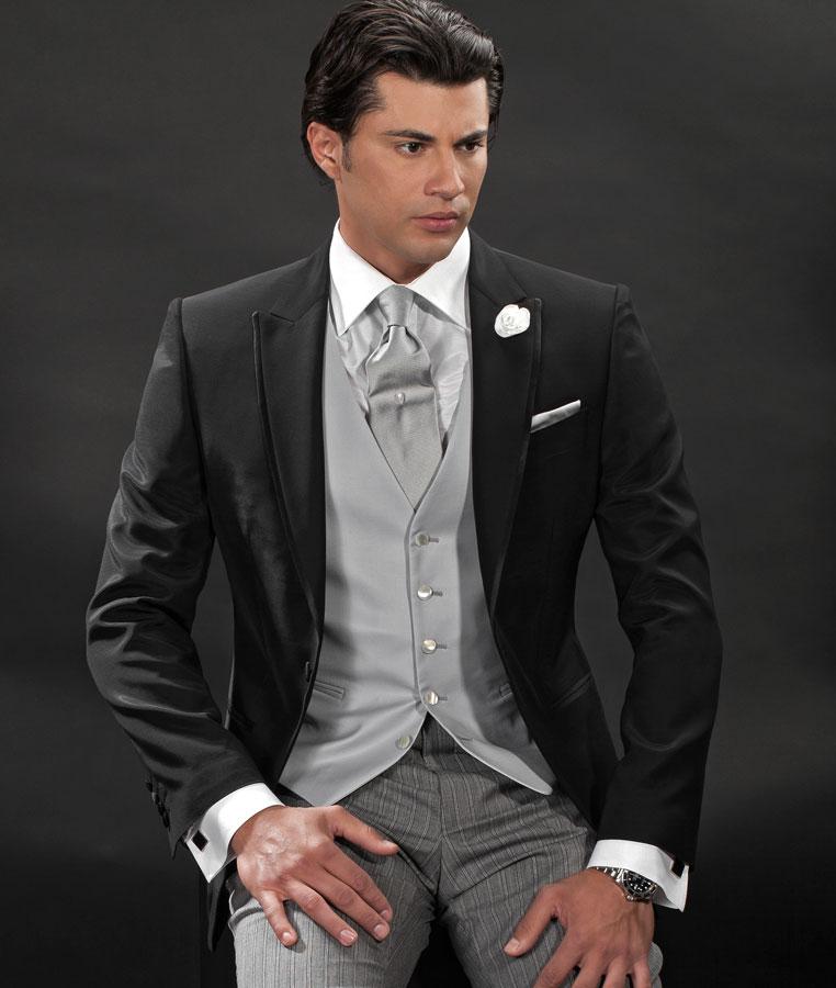 Custom Made Black Jacket Tuxedos Casual Men\u0027s Suit Prom