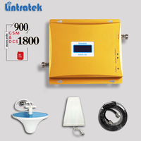 Lintratek Cellular Signal Booster Dual Band GSM 900Mhz UMTS 1800Mhz 2G 3G Mobile Signal Repeater With