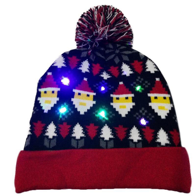 Г., 43 дизайна, светодиодный Рождественский головной убор, Шапка-бини, Рождественский Санта-светильник, вязаная шапка для детей и взрослых, для рождественской вечеринки - Цвет: 05