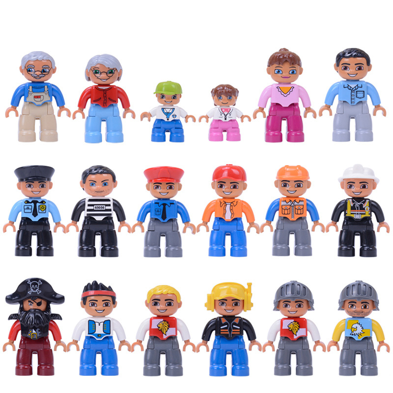 6pcs/set High quality building blocks accessories part occupational family doll compatible with legoing children birthday gift
