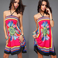 Sexy Vestidos Plus Size Summer Dress 2016 Big Size XXL Beach Dresses Large Size Female Floral Clothing Women Clothing XL