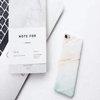 Selling Fashion Granite Scrub Coral Marble Case for iPhone 6/ 6S Plus Phone Cases Luxury Soft IMD Capa Granite Back Cover coque