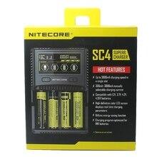 NITECORE SC4 интеллектуальное более быстрое зарядное устройство с 4 слотами 6A, полная выходная Совместимость IMR 18650 14450 16340 AA батарея