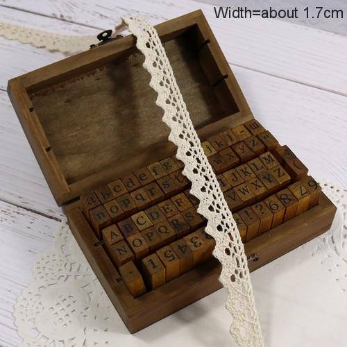 Zakka Стиль хлопковая кружевная лента швейная лента, бежевая Кружевная Сетка, крутая кружевная тесьма(17 мм x 50 ярдов - Цвет: Beige