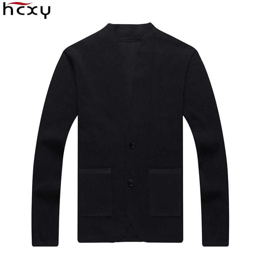 HCXY 2019 メンズカーディガンセーターブレザーバージョン生き抜く男性セーター男のコートジャケットファッション 4 季節無地スリムフィット