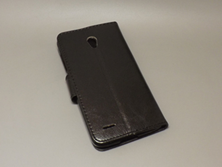 Crazy horse wallet case hold two Cards with 2 Card Holder and pouch slot for Alcatel One Touch Pop 2 5 7043A 7043Y 7043K 7044