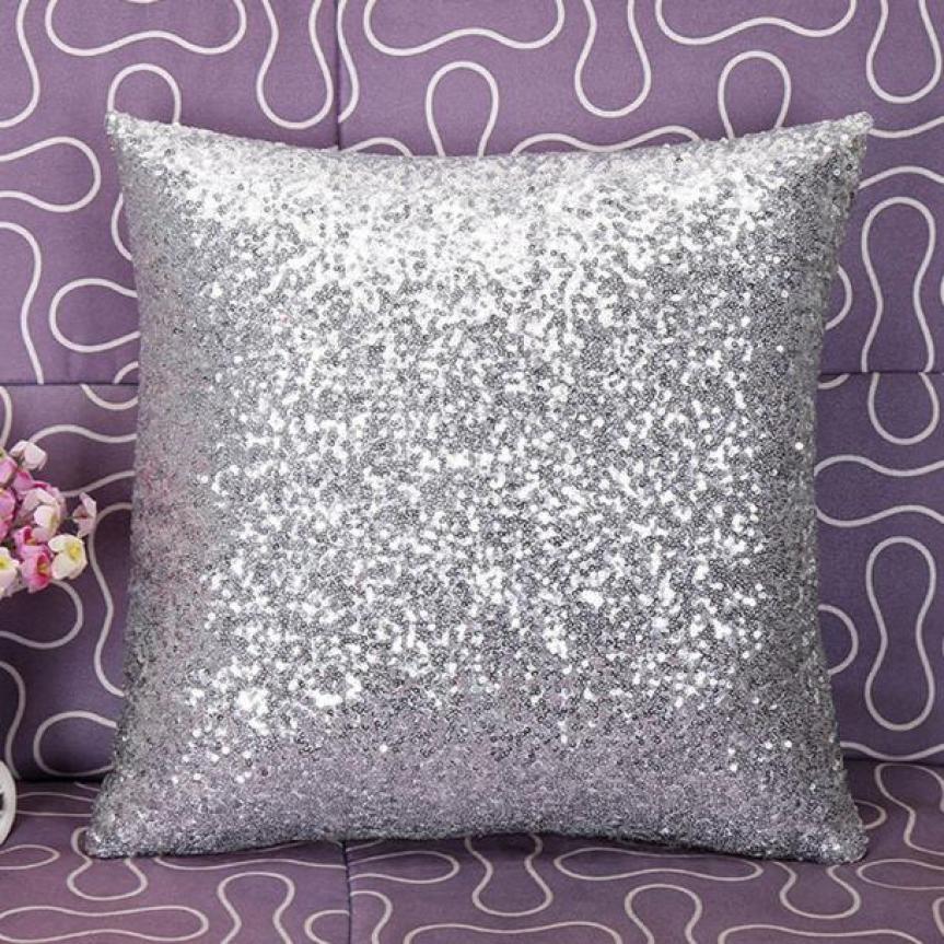 Color Glitter Sequins Sofa Waist Throw Cushion Case For Home Decor Sofa Cushions Cojines Decorativos Almofadas Para Sierkussen