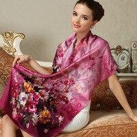 FW201 Wholesale High End 100% silk scarf Ladies Silk Scarves Silk Shawls