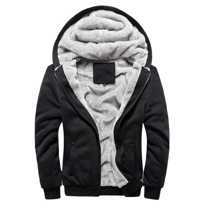 US $23.02 |2019 new men's Sweatshirt hooded autumn and winter men baseball male Korean sports plus velvet thick men's jacket in Hoodies & Sweatshirts