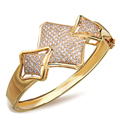 Bracelets Bangles for women copper material gold plated with Cubic zirconia New design fashion Jewelry Free shipping