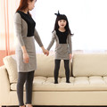 2015 autumn matching mother daughter dresses clothes family clothing outfits mom and daughter dress mommy and me clothes