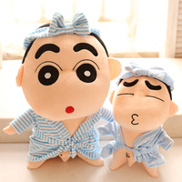 Plush Toy Stuffed Doll Cartoon Boy Crayon Shin Chan Bath Dress Bathrobe Birthday Gift Christmas Present