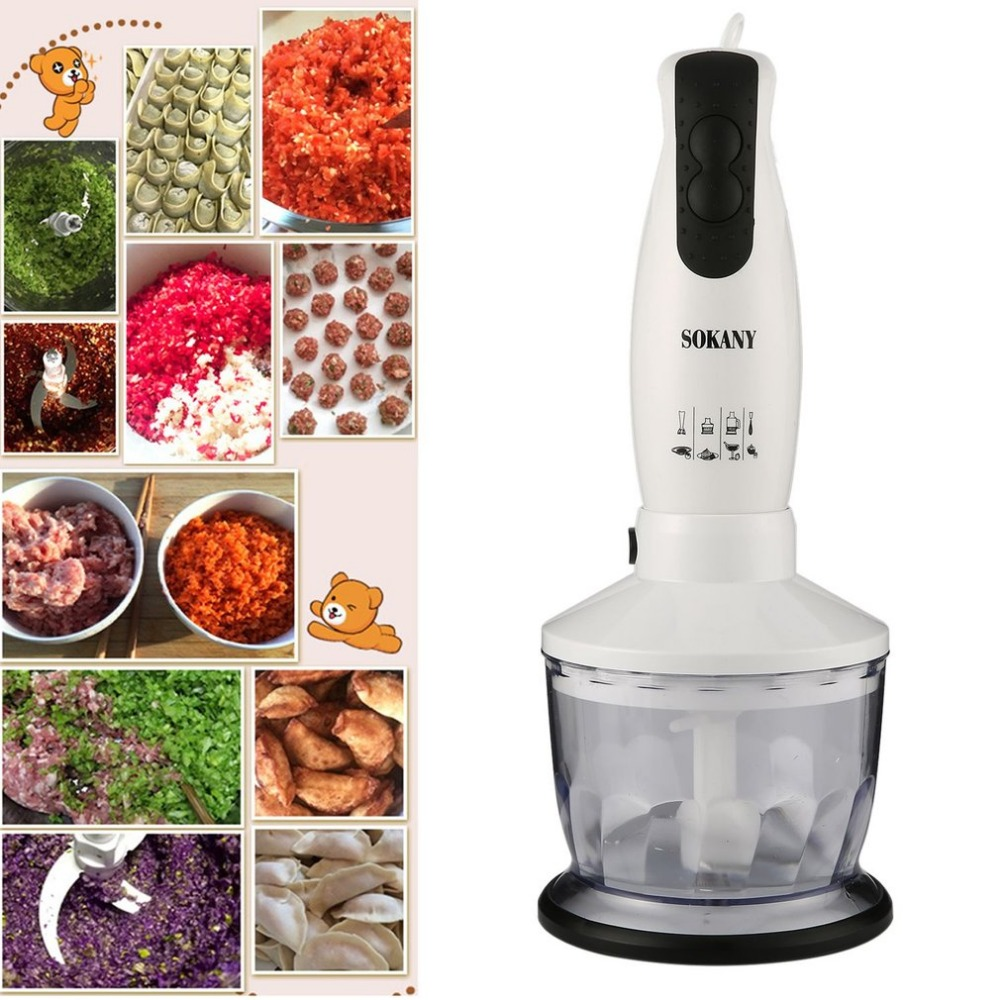 Newest 450W Multifunction Electric Stick Blender Mixer Household Hand Blender Egg Whisk Mixer Juicer Meat Grinder Food Processor 220v multifunction electric juicer household meat grinder kitchen food processor tool only with 1 juicer cup
