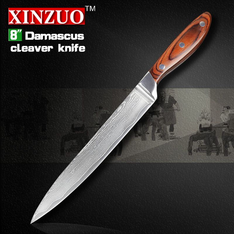 NEW 8 inch cleaver font b knives b font Japanese VG10 Damascus kitchen font b knives