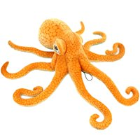 Giant Realistic Stuffed Marine Animals Soft Plush Toy Octopus Orange,33.5 Inch or 85 cm,1PC