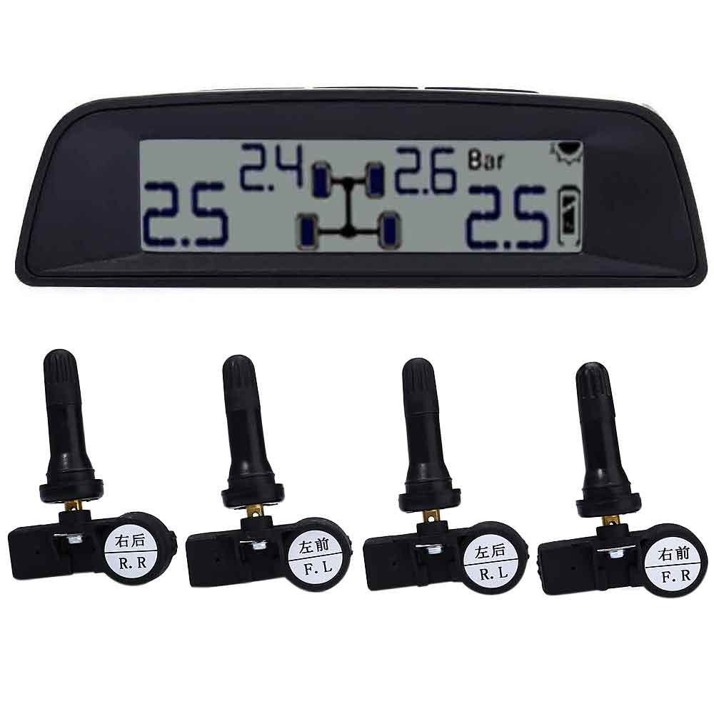 TPMS - 03N LCD Display Screen Wireless TPMS Solar Power Tire Pressure Monitor System Internal Sensor tpms tire pressure monitor system car alarm system diagnostic tool wireless solar powered color lcd display