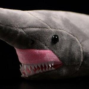 Image 5 - ยาว 66 ซม.เหมือนจริง Goblin Shark ตุ๊กตาของเล่น Super นุ่มสมจริงสัตว์ทะเล Elfin Shark Plush ของเล่นสำหรับเด็ก