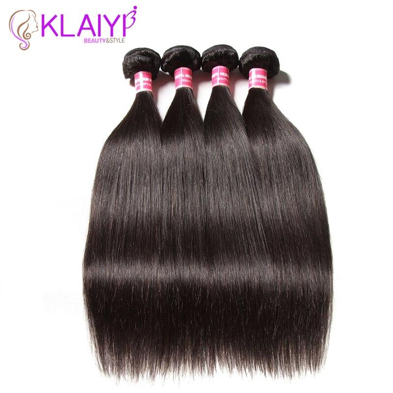 Klaiyi волос 8-30 дюймов Малайзии прямые волосы пучки 100% человеческих Химическое наращивание волос могут быть окрашены Реми Синтетические воло...