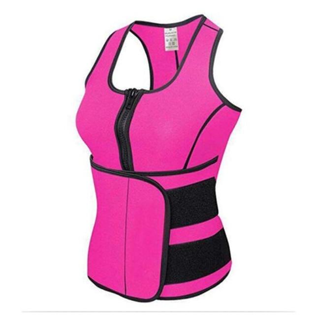 NEW Neoprene Sauna Vest Body Shaper Slimming Waist Trainer Hot Shaper Fashion Workout Shapewear Adjustable Sweat Belt Corset 4