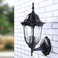 European Retro LED Wall lamp Outdoor Wall Sconce Lighting Waterproof Garden Wall Light Fixtures Aluminum Glass Porch Lights