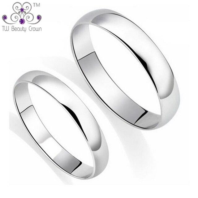 92c62384e9d3 100% real anillos de plata de ley 925 clásico diseño simple sin hendiduras anillos  para