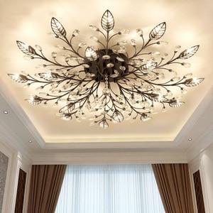 Image 2 - Chandelier Modern Crystal Decoration Chandeliers Ceiling For Living Room Bedroom Dining Room G9 Black/Gold Iron lighting Fixture