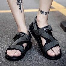 Man Beach Sandals 2018 Summer Gladiator Men's Outdoor Shoes Roman Men Casual Shoe Flip Flops Fashion Slippers Flat Plus Size 46 стоимость