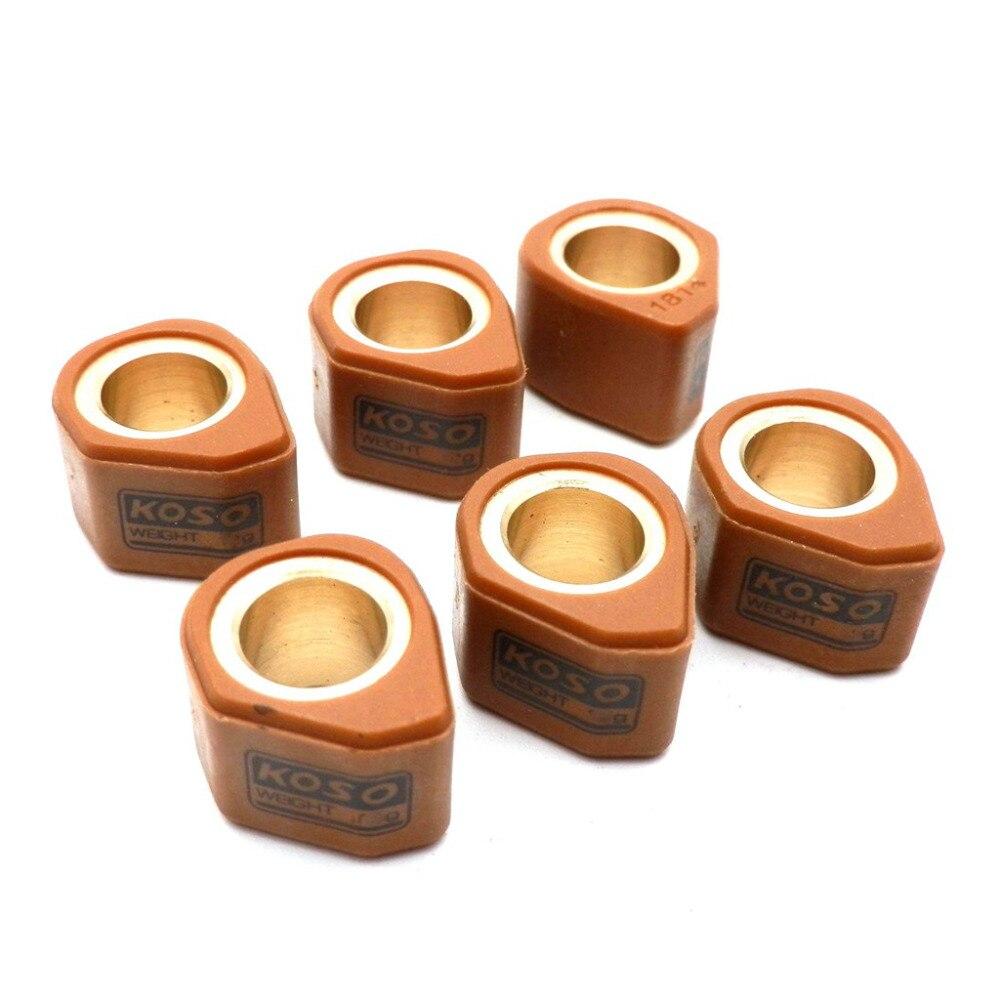 Функциональный вариатор KOSO, зеркальные многоугольные слайдеры 18x14 мм для скутера GY6 150cc 12/13/14/15/16/17/18 грамм