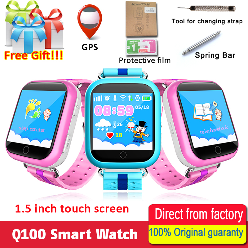 Original GPS Smart Watch Q750 Q100 Baby Smart Watch With 1.54inch Touch Screen SOS Call Location Device Tracker for Kid Safe 2018 new gps tracking watch for kids waterproof smart watch v5k camera sos call location device tracker children s smart watch