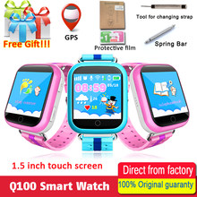 Original GPS Smart Watch Q750 Q100 Baby Smart Watch With 1.54inch Touch Screen SOS Call Location Device Tracker for Kid Safe(China)