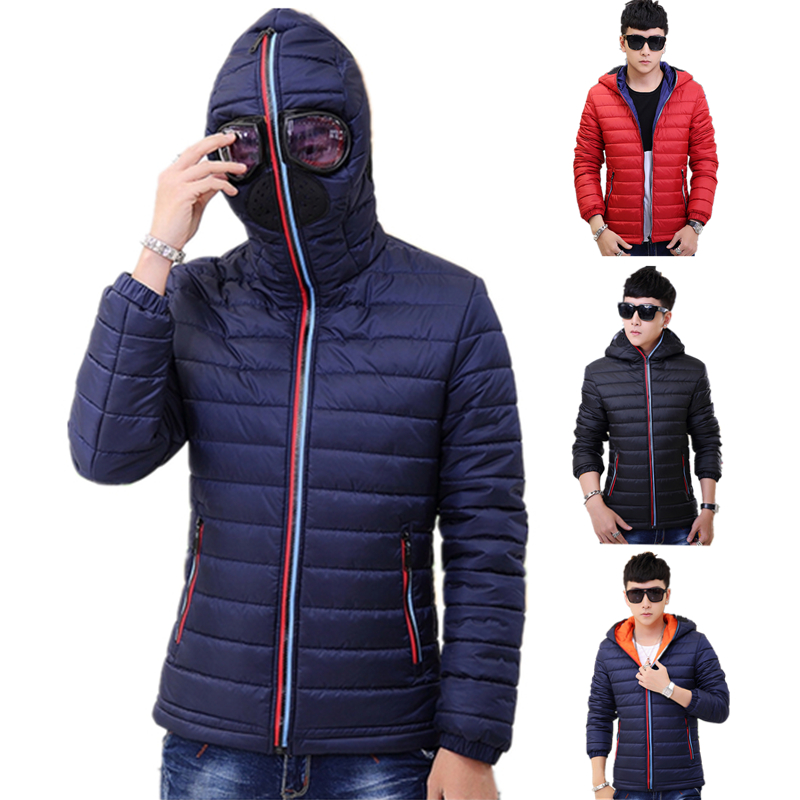 Bingchenxu Autumn Winter Parka Men Jacket Coat Outerwear Fashion Hood With Glasses Padded Quilted Warm Casual Male Jackets 482 new men winter jacket fashion brand clothing cotton padded down parka male thick warm comfortable outerwear coat hood detachable