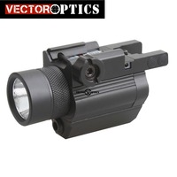 Vector Optics Tactical Pistol Handgun LED Flashlight Green Laser Combo Sight Metal 200 Lumens Weapon Light