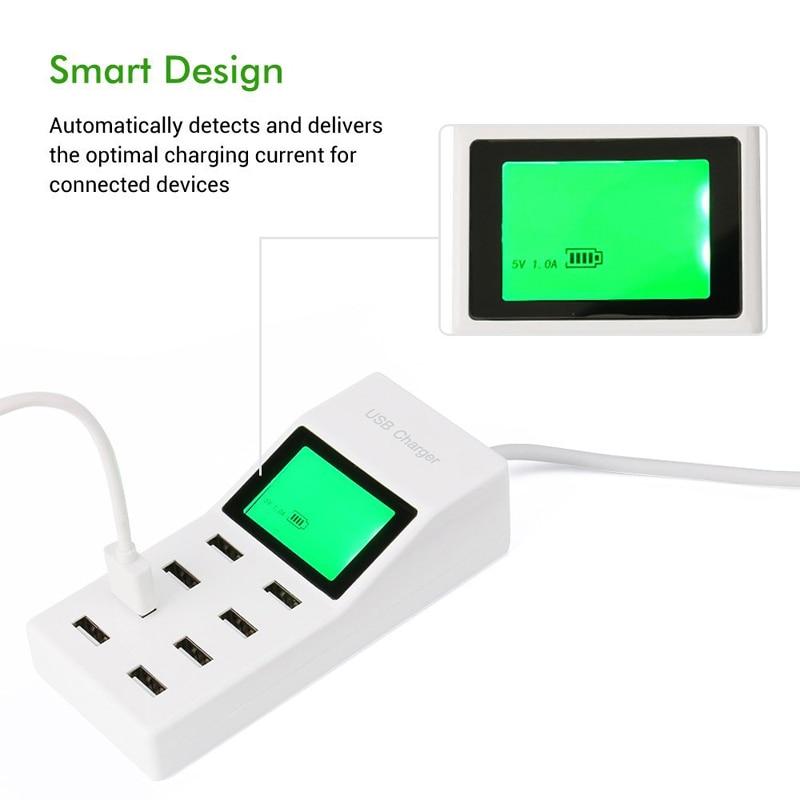 INGMAYA 8 Port USB Charger Daya 5V8A LCD Display Untuk iPhone 5 5 S 6 - Aksesori dan suku cadang ponsel - Foto 3