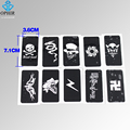 OPHIR 10x Airbrush Stencils Skull Series for Body Art Paint Temporary Tattoo Stencils, Tattoo Accesories Kit 7.1 x 3.6cm_TA032B