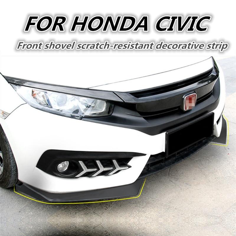 2 pc ABS voiture pare-chocs avant lèvre avant tabliers latéraux FIit pour Honda Civic 10th 2016 2017 voiture style voiture accessoires de voiture