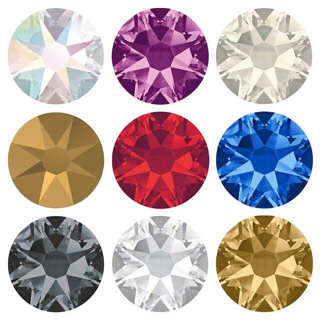 TopStone 2088 16 Cuts Hot Fix Crystal Rhinestones Glass Hotfix Strass Stone Crystals AB lt Siam Iron on Clothes