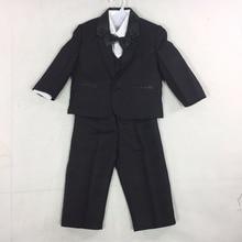 9b9eaae01 Verano de alta calidad traje Formal de fiesta o de Navidad ropa de bebé  trajes de boda para niño negro blanco 5 piezas envío gra.