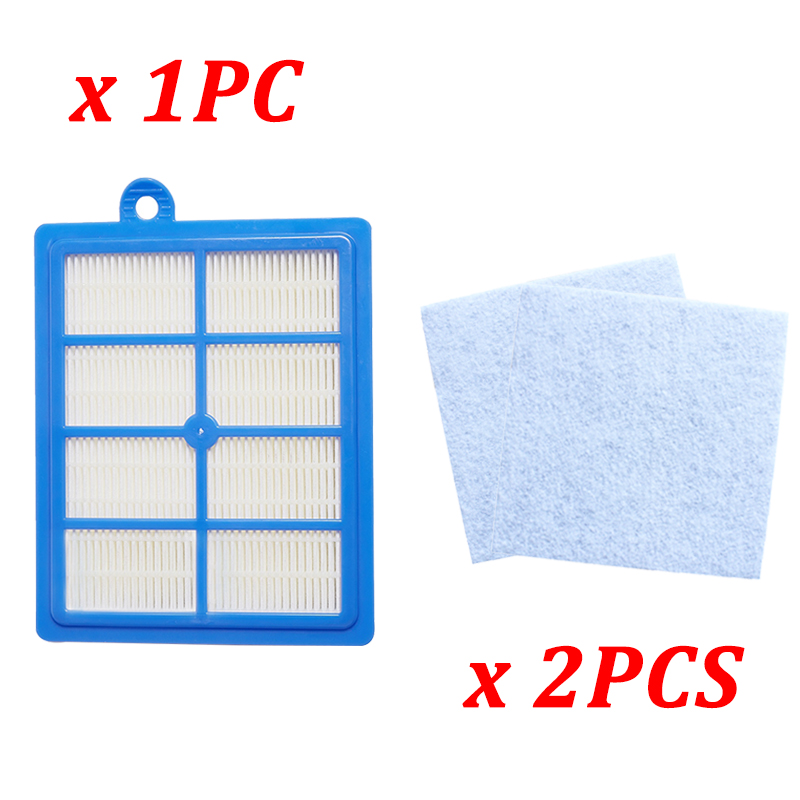 1PC Dust Hepa Filter H12 H13 + 2PCS Motor Cotton Filters For Philips Electrolux FC9172 FC9083 FC9258 FC9261 Vacuum Cleaner Parts