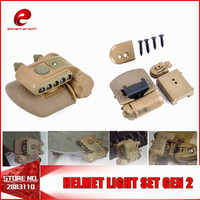 Element Weapon HELMET LIGHT SET GEN 2 Softair Military White Red Ir Led Tactical Flashlights Airsoft Fit Bicycle Motorcycle TAN