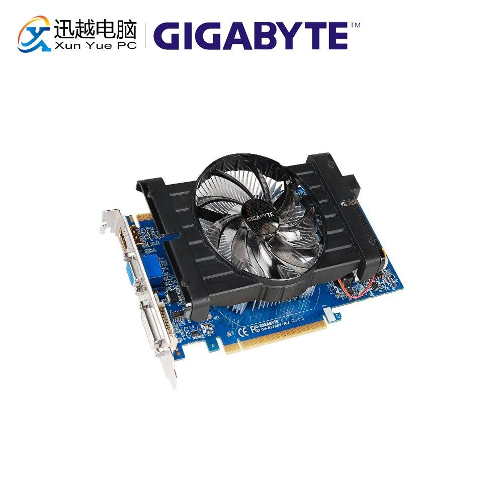 Gigabyte GV-N550D5-1GI Graphics Cards 192bit GTX 550 1024MB GDDR5 HDMI DVI For Nvidia Geforce GTX 550 Original Used Video Card