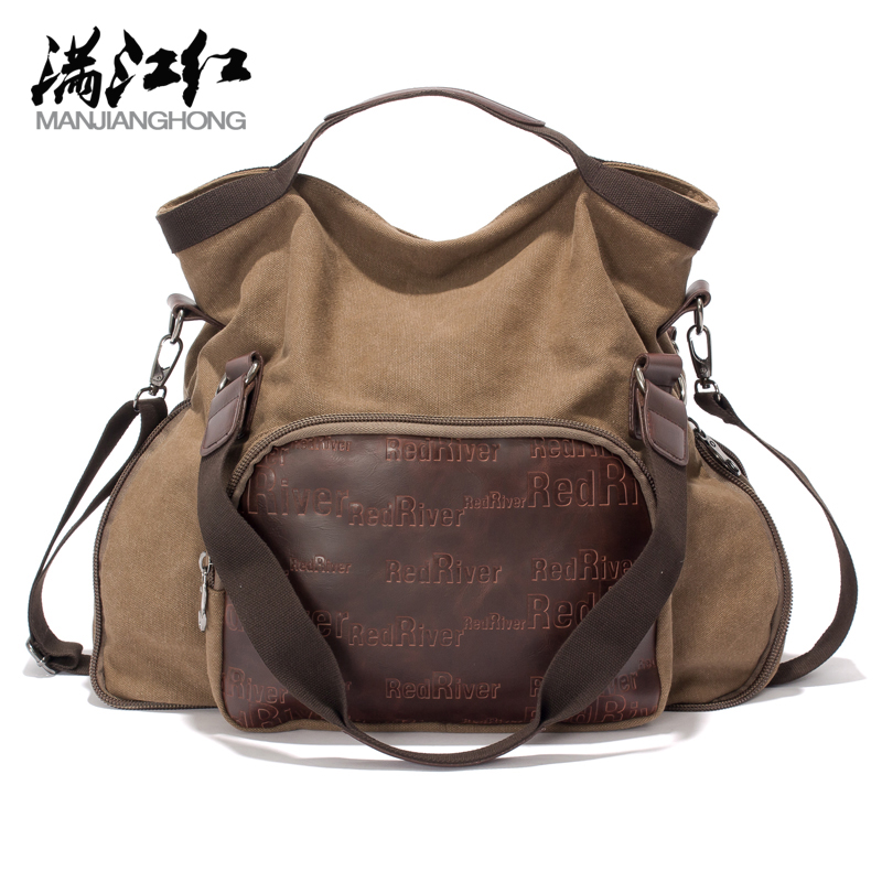 ФОТО Fashion Large Europe Style Lady Girls Casual Tote Bag Woman Canvas+Crazy Leather Horse Shoulder Bags Women Handbag