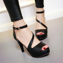 Summer Pumps Women Peep Toe High Heel Party Wedding Shoes Platform Gladiator Sandals Woman High Heels Plus Size 34-40.41.42.43