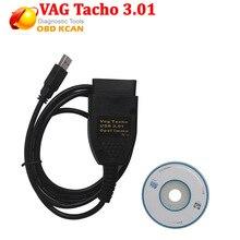 Vag3.01 USB Vag Tacho 3,01+ для O pel подушка безопасности IMMO VAG OBD2 диагностический инструмент EEPROM IMMO PIN коррекция пробега с бесплатной доставкой