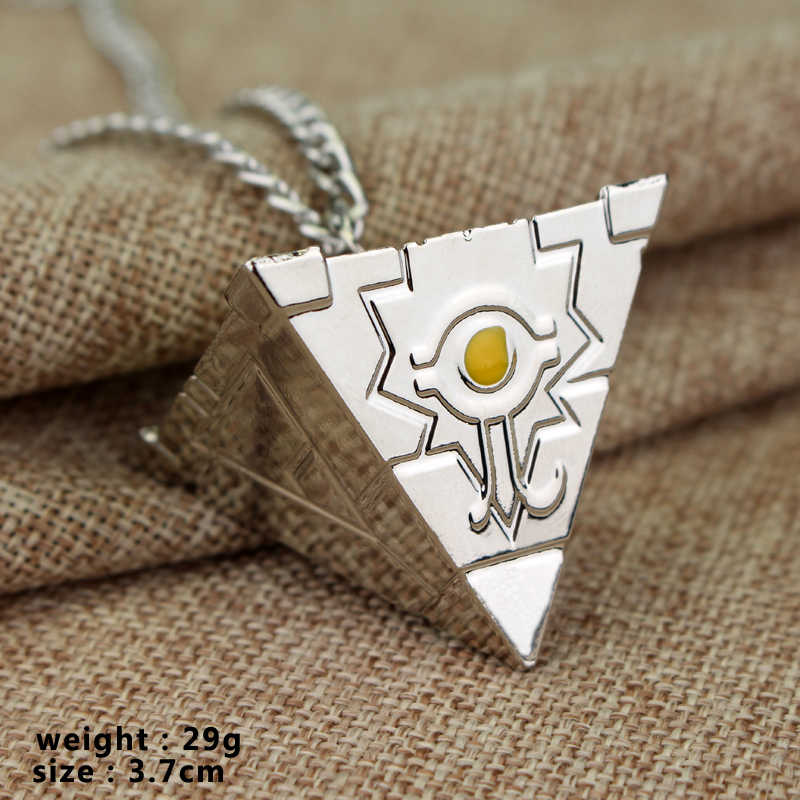 Free shipping 3D Yu-Gi-Oh Necklace Anime Yugioh Millenium Pendant Pyramid Egyptian Eye Of Horus Necklaces Amulet Cosplay Jewelry