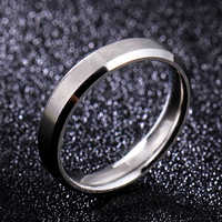4mm Dull Polish Silver Color Titanium Ring For Men and Women