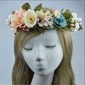 Guirlandas de Casamento moda Headband Do Partido Dos Miúdos Handmade Ajustável Fita Acessórios Para o Cabelo Coroa de Flores Da Grinalda Da Flor Praia Viagens