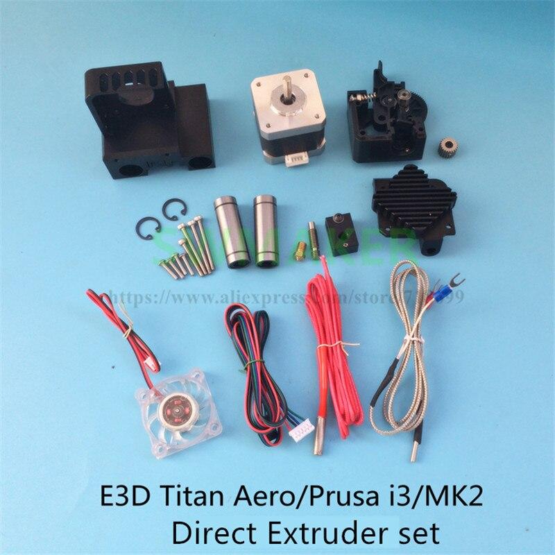 Titan Aero Upgrade Heatsink extruder /V6 PT100 Hotend upgrade kit Titan direct radiator 1.73/3mm for Prusa 3D printer parts funssor titan aero extruder kit for 1 75mm 3mm 12v 24v 40w titan aero volcano hotend extruder set for reprap 3d printer