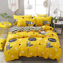 A77 Yellow Gophers Printing High Quality Comfortable Family Bedding Set Bed Linings Duvet Cover Bed Sheet Pillowcases 4pcs/set(China)