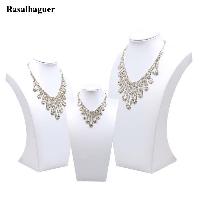 Fashion White PU Leather Jewelry Display Necklace Bust Pendants Stand Choker Holder Jewellery Rack Show 3 Options ModelFashion White PU Leather Jewelry Display Necklace Bust Pendants Stand Choker Holder Jewellery Rack Show 3 Options Model