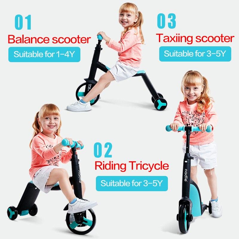 3 en 1 bébé marcheur enfants Tricycle triade bébé Scooter vélo tour sur jouets bébé vélo trois roues poussette Balance Scooter